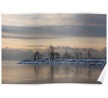 Pale, Still Morning on Lake Ontario Poster