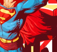Superman city skyline Sticker