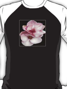 tulip magnolia twins (black bg square) T-Shirt