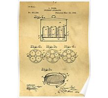 Home Canning Jar Patent 1898 Poster