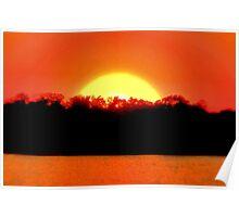 Sunset at Pecan Grove Park Poster