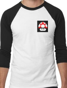Mushroom 8 Bit Shirt Men's Baseball ¾ T-Shirt