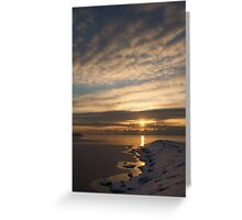 Bright, Icy Daybreak on the Lake Greeting Card
