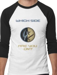 CSGO-Which side are you on?-Straight Men's Baseball ¾ T-Shirt