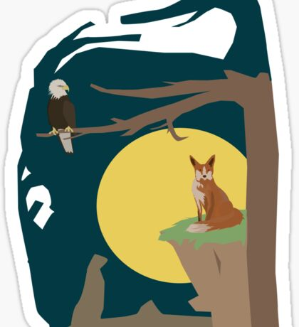 Silence Night by the Fox and the Eagle Sticker