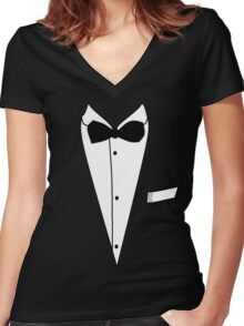 Tuxedo Women's Fitted V-Neck T-Shirt