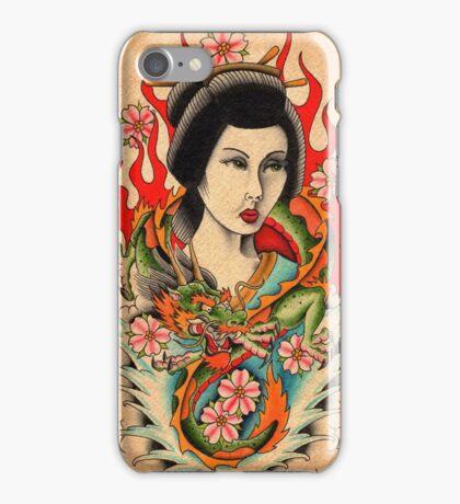 Geisha and Dragon iPhone Case/Skin