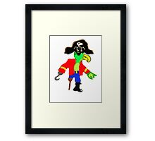 Silly Pirate Parrot Pete And His Cool Pirate Hat Framed Print