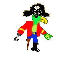 Silly Pirate Parrot Pete And His Cool Pirate Hat Photographic Print