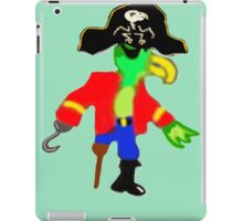 Silly Pirate Parrot Pete And His Cool Pirate Hat iPad Case/Skin