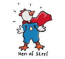 Hen of Steel - Superchicken Photographic Print