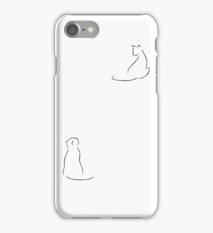 Minimalist Cats iPhone Case/Skin