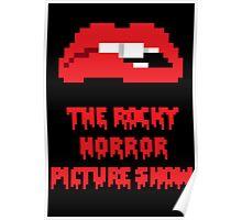 8-Bit Rocky Horror Lips Poster