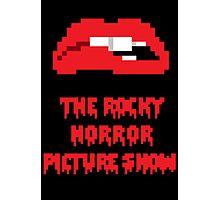 8-Bit Rocky Horror Lips Photographic Print