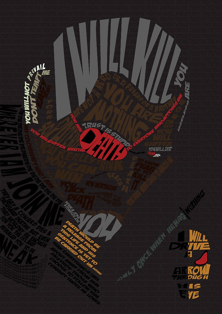 Deathstroke Typography  by matbland