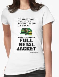8-Bit Full Metal Jacket Womens Fitted T-Shirt