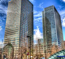 Taxis at Canary Wharf by DavidHornchurch