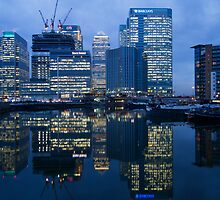 Canary Wharf, Night, Docklands, London, England by WillG