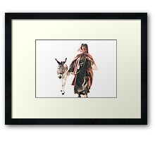 Hebrew woman with Donkey - The Jerusalem Entry Framed Print