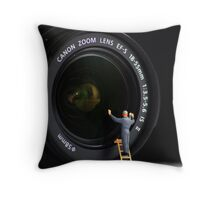 Keeping the Lenses clean Throw Pillow
