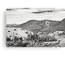Sonoran Desert and the Windmill Canvas Print