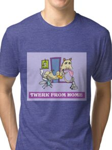 Twerk From Home Miley Cyrus Funny T-Shirt Tri-blend T-Shirt