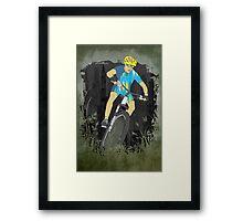 Bicycle Guy Framed Print