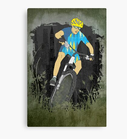 Bicycle Guy Canvas Print