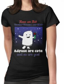 Adipose Love Poem Womens Fitted T-Shirt