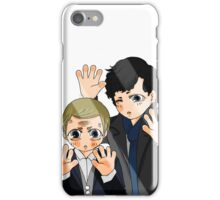 Sherlock & John trapped behind the glass (TOGETHER, YAY!) iPhone Case/Skin