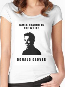 JAMES FRANCO IS THE WHITE DONALD GLOVER Women's Fitted Scoop T-Shirt