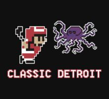 Classic Detroit - 8 Bit - Go Wings! by geekingoutfitte
