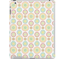 Colorful dots circles pattern on white background iPad Case/Skin