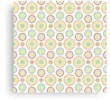 Colorful dots circles pattern on white background Canvas Print