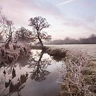 River Brett winter scene by Christopher Cullen