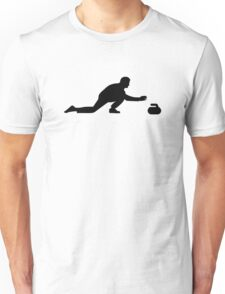 Curling player Unisex T-Shirt