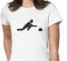 Curling player Womens Fitted T-Shirt