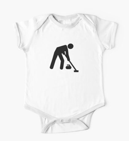 Curling sports player One Piece - Short Sleeve
