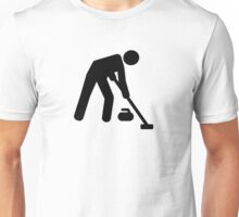 Curling sports player Unisex T-Shirt