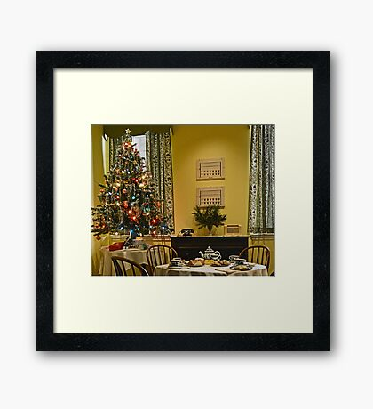 Christmas Downstairs Framed Print