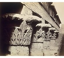The Capitals of the Portico, Temple of Khnum, Esna Photographic Print