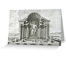 Statue of Olympian Zeus Greeting Card