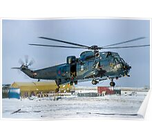Westland Sea King HAS.5 XZ577/42 at RAF Stanley Poster