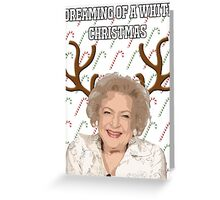 The Golden Girls 'Dreaming of a White Christmas' Greeting Card Greeting Card