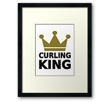 Curling king champion Framed Print