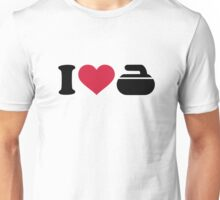 I love Curling stone Unisex T-Shirt