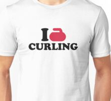 I love Curling Unisex T-Shirt