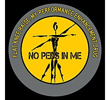 Flat Knee Raise - My Performance Enhancement Drug Photographic Print