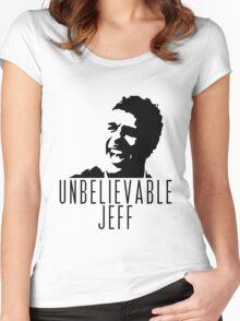 Unbelievable Jeff - Chris Kamara Women's Fitted Scoop T-Shirt