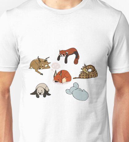 z z z - sleeping animals shirt Unisex T-Shirt